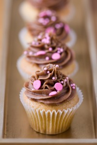 Cupcakes nappage chocolat au lait